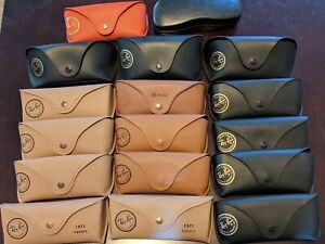 Ray Ban Luxottica Sunglasses Eye Glasses Soft Cases Assorted Lot Of 17