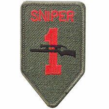 Sniper 1 Gun Rifles Pistol Hunting Police Military Security Iron on Patch #P058
