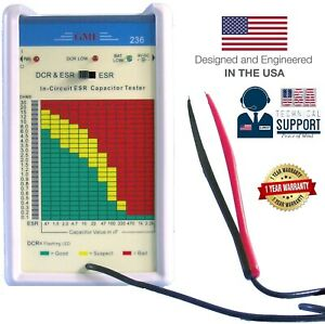 GME Professional In-Circuit ESR Capacitance Meter Capacitor Tester USA Warranty