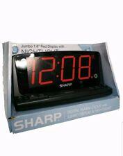 Sharp LED Alarm Clock with Nightlight and Jumbo Display
