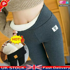 UK Women's Winter Thick Leggings Pants Fleece Lined Thermal Stretchy Warm Soft