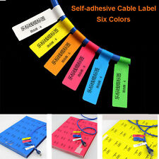 300pcs( 10 Sheets A4)  Self-adhesive Cable Labels Identification Markers Tags