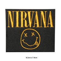 Nirvana Music Band Embroidered Patch Iron on Sew On Badge For Clothes Bags etc
