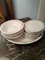 10 piece lot Vintage Shenango China Restaurant Ware Lawrence Ware platter bowls