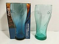 2 Limited Edition Coca-Cola Glasses 1 Blue 1 Teal 2018 McDonalds Drinking Cups
