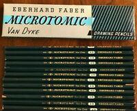 NOS Vintage Eberhard Faber Microtomic Van Dyke #600 4B Drafting Drawing Pencils
