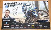 2015 Austin Lee signed Yamaha Racing YZ250FX GNCC Motocross poster