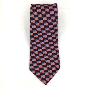 American Traditions American flag 100% silk tie Made in USA Stars And Stripes