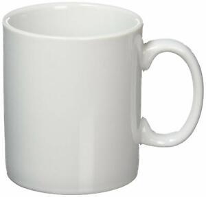 Tea Coffee Porcelain Mugs  Plain White 300ml Mug Cup
