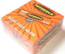 1 Box FUTUROLA King Size orange KS Papers Zigarettenpapier 50 Heftchen 33 Blatt