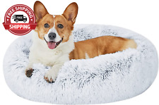 New listing Dog Beds Calming Donut Bed, Puppy Dog Bed Large Dogs, Dog Beds for Medium