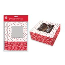 2 Christmas Food Presentation Gift Boxes Box For Cupcakes Muffin Cake Party P309