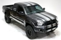 Vinyl Decal Racing Stripes Wrap Kit Fits: Toyota Tacoma 2005-2012 Satin Silver