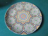 COCEMA PORCELAIN FES MOROCCO  DINNER PLATE MOSAIC PATTERN 10 ""