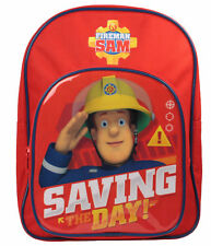 OFFICIAL FIREMAN SAM SAVING THE DAY BOYS ARCH BACKPACK RUCKSACK SCHOOL BAG NEW