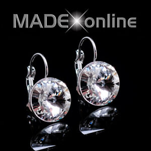 Round Drop Bling Earrings, Swarovski inspired