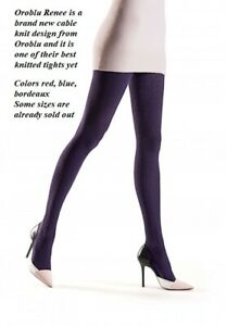 Oroblu Renee knitted tights, 120 denier, fashionalble cable knit, 85% cotton
