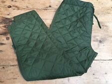 NEW 'NATO' SIDE ZIP QUILTED EXTREME COLD LINER / TROUSERS SIZE 90/94 OLIVE GREEN