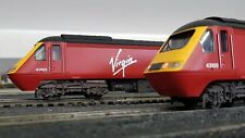 HORNBY RAILROAD/LIMA HST INTERCITY 125 POWER CARS IN VIRGIN LIVERY & WEATHERED.