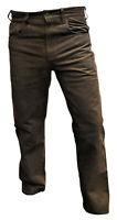 Lederjeans Braun soft Stiefelhose Motorradhose Bikerhose Wildlederhose Trachten