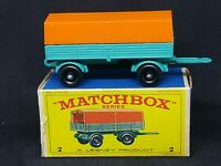 Matchbox Lesney MB2-A1 - Mercedes Trailer in Type E Box