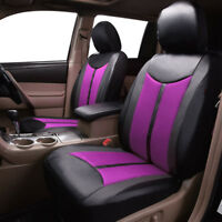 New Deluxe Faux Leather  2 front set Car Seat Covers  mesh quality protectors