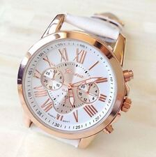 Ladies Children Kids Girls Party Sport SMART Rose Gold Watch White Adult FREE UK