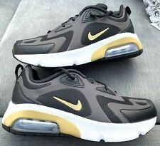 NEW £110 NIKE AIR MAX 200 Black And Gold TRAINERS UK 6 (39)