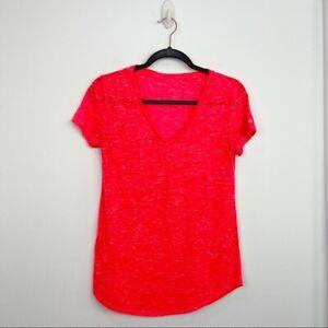 Alo Yoga Orange Marbled Tissue Short Sleeve Tee Size S Athletic Womens