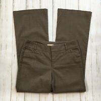 Dockers Womens Size 8 Brown Flare Leg Trouser Pants Business Office Work