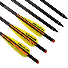"""6X 20"""" Carbon Arrows Easton Vanes Crossbow Bolts for Archery Target Hunting"""