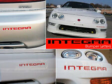 ACURA / HONDA INTEGRA 98 99 2000 2001 RED FRONT & REAR BUMPER INSERTS NOT DECALS