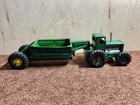 VINTAGE STRUCTO TOYS TRACTOR W/ FARM TRAILER SELLING AS-IS