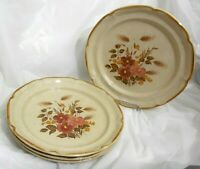 SET of 4 SUNMARC ENDURA COLLECTION STONEWARE SM-6669 FESTIVE DINNER PLATES 10.5""
