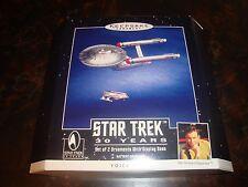 Star Trek---Hallmark---U.S.S. Enterprise & Shuttle---Diecast Metal---Voice Magic