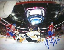 Tim Thomas Boston Bruins net cam signed Canadiens 8x10