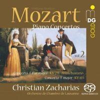 Mozart: Piano Concertos Vol. 2 - Zacharias/Lausanne Ch (2013, SACD NEUF)