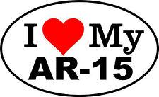 I LOVE MY AR-15 Assault Rifle .223 5.56 Gun Decal Bumper Sticker Security Alarm