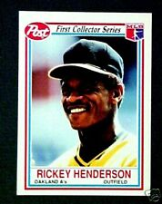 1990 Rickey Henderson A's Baseball Post (LARGE) Card (ONLY 80 MADE)