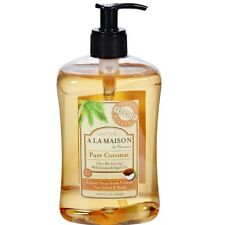 A LA MAISON Hand - Body Liquid Soap, Pure Coconut 16.90 oz (Pack of 4)