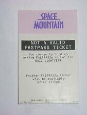 WALT DISNEY WORLD RETIRED NOT A VAILID FASTPASS TICKET SPACE MOUNTAIN