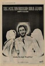Pete Townshend Empty Glass The Who Advert NME Cutting 1980