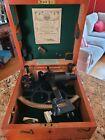 Antique 1944 Henry Hughes & Son Marine Sextant, London. Wartime Case