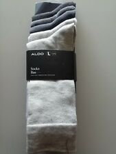 "ALDO MEN'S DRESS CREW SOCKS PACK OF 5 PAIR ONE SIZE STYLE ""SOCK BAS"" NEW"