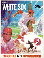 1971 (May 31 G.2) Baseball program Baltimore Orioles @ Chicago White Sox, scored