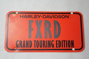 OEM Harley FXRD Grand Touring Edition dealer license plate insert 1985 EPS23465B