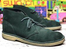 Men's Shoes Clarks Originals DESERT BOOT Suede Chukkas FOREST GREEN Sz 10 M / 43