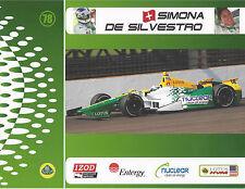 "2012 INDY 500 SIMONA DE SILVESTRO SWITZERLAND INDYCAR 8 1/2""X11"" HERO CARD !"