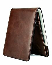 Utrl Slim Genuine Leather Wallet for Men Thin Minimalist Front Pocket with RFID