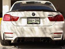 CARBON BMW E93 CONVERTIBLE V STYLE SPOILER 3 SERIES BOOT M3 REAR LIP UK SELLER